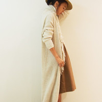 Off-White Long Knit Cardigan