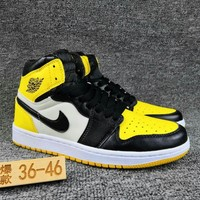 Women's and Men's NIKE Air Jordan 1 generation high basketball shoes  021