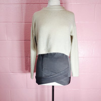 Tres Casual Chic Fuzzy Knit Sweater