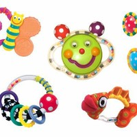 Sassy Baby's First Rattle and Teether 5 Piece Gift Set