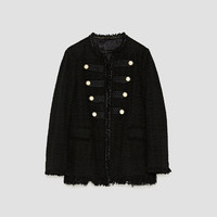 JACKET WITH PEARL BUTTONS DETAILS