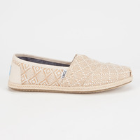 TOMS Natural Woven Rope Sole Womens Classic Slip-Ons | Casuals & Flats