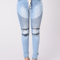 Zips And Rips Joggers - Blue