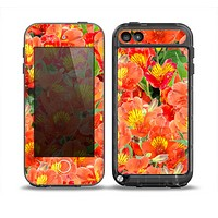 The Red and Yellow Watercolor Flowers Skin for the iPod Touch 5th Generation frē LifeProof Case