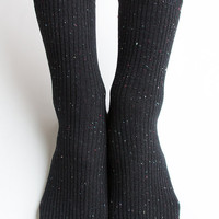 Women New Must Have Hezwagarcia Black Color Bocasi Colorful Threads Basic Essential Cotton Ankle Socks