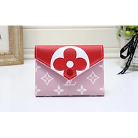 LV hot selling fashion lady casual patchwork print flip cover small purse #3