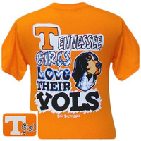 New Tennessee Girls Love Their Vols Girlie Bright T Shirt