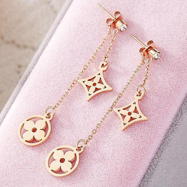 Image of LV Louis Vuitton Classic Popular Pendant Earrings Accessories Jewelry