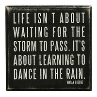 """Kathy's Kreations """"Dance in the Rain"""" Wooden Box Sign Art"""