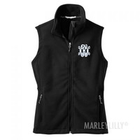 Monogrammed Fleece Vest | Marley Lilly
