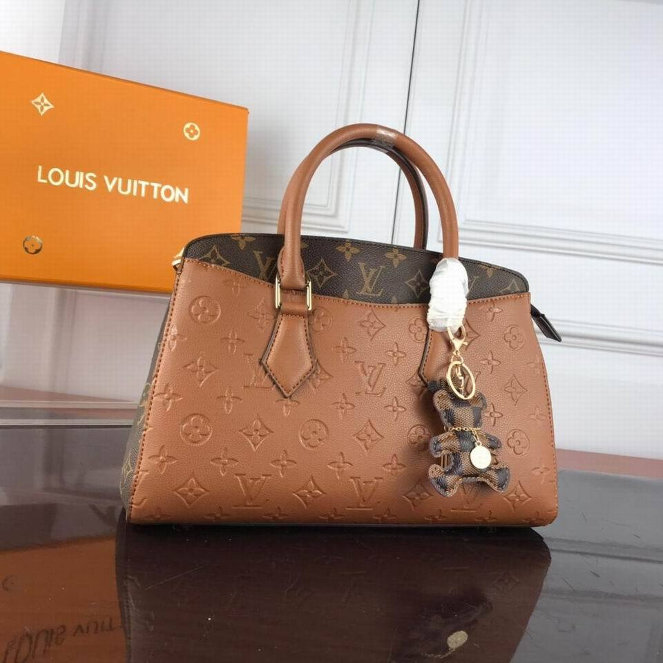 Image of lv louis vuitton womens leather shoulder bag satchel tote bags crossbody 490