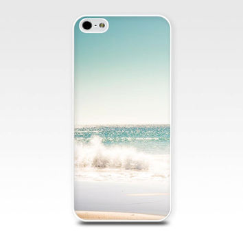 nautical iphone case 5s iphone 4s case beach scene iphone ocean case iphone 4 case 5 fine art iphone case photography teal pastel blue waves