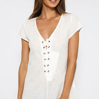 Leman Playsuit - White