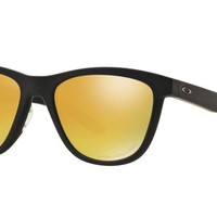 Oakley Womens Sunglasses - moonlighter - Matte Black, 24K Iridium Polarized OO93