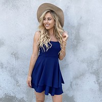 Cheers To That Skater Dress in Navy