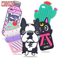 For iPhone 5 5s SE 6 6s 7 6 Plus 7 Plus Cactus Pineapple Cat Dog Stitch Bottle Boys Tears Ice Cream Rose Silicone Cases Covers