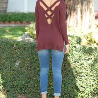 Metropolitan Sweater - Burgundy