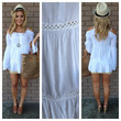 White Off Shoulder Cover Up Tunic