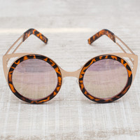 Rin Round Sunglasses - Tiger
