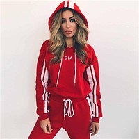 Sports Casual Set Autumn Hot Sale Women's Fashion Embroidery Pants Hats