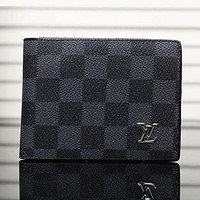 LV Louis Vuitton Men Leather Purse Wallet