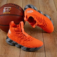 Nike LeBron 15 XV ZOOM 15 KS2A Orange Basketball Shoe