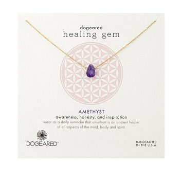 Dogeared - Healing Gem Amethyst Necklace, Gold Dipped