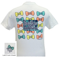 Girlie Girl Originals Southern & Sophisticated Multi Bow White Bright T Shirt
