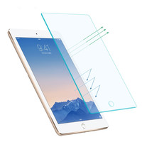 Tempered Reinforced Glass Screen Protector Case For Apple ipad 2 3 4 Air 5 / For ipad mini 1 2 3 4 Clear Film + Retail Package