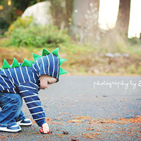 Children's Dinosaur Hoodie by SwankyPankyDesigns on Etsy