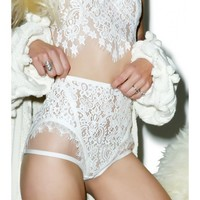 For Love & Lemons Ophelia Hi-Waist Panty | Dolls Kill
