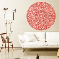 Mandala Wall Decal Ethnic Sunshine Stickers Vinyl Decals Flower Art Mural Home Decor Interior Design Bedroom Sticker Bohemian Decor KY55