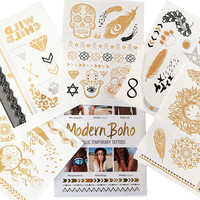 Wild Child Collection Metallic Tattoos Gold and Silver Flash By Modern Boho