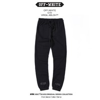 OFF WHITE Casual Winter Stripes Alphabet Pants [11501030540]