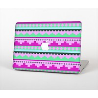 """The Lime Green & Purple Tribal Ethic Geometric Pattern Skin Set for the Apple MacBook Air 13"""""""