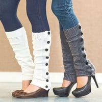 Women's 2-Pair Buttons Leg Warmers Great With Leggings Skinny Jeans Or Skirts
