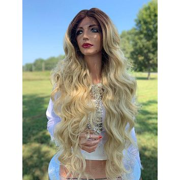 Hannah Natural Hair Wig, Ombre Light Blonde 919 3