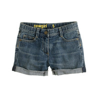 crewcuts Girls Cowgirl Roll-Up Jean Short