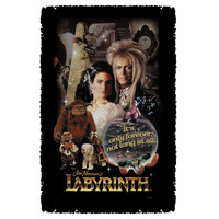 Labyrinth Movie Woven Blanket