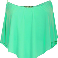 Molly Hanky Hem Camisole Top in Mint Green