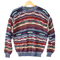 Textured Colorful Horizontal Stripe Cosby Sweater - The Ugly Sweater Shop