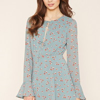 Contemporary Floral Tie Dress | Forever 21 - 2000177155