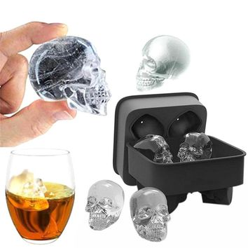 Skull Shape 3D Ice Cube Silicone Mold