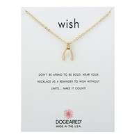 Wishbone Card Alloy Clavicle Pendant Necklace 171208