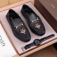 Gucci Men's Leather Embroidery Fashion Casual Sneakers Shoes Best Quality