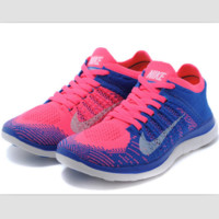 NIKE knitting flying line casual sports shoes Sapphire blue pink