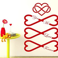 Love Wall Decals Infinity Sign Infinity Symbol You Me Love Forever Home Bedroom Wall Art Vinyl Decal Sticker Kids Nursery Baby Room Decor C527