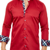 Wall Street Royal Red | Dress Shirt by MACEOO
