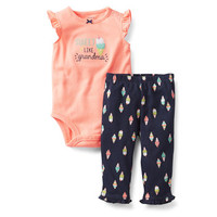 2-Piece Neon Bodysuit Pant Set
