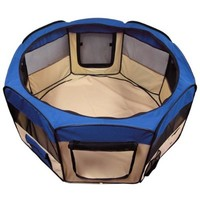 """Best Choice Products Pet Puppy Dog Playpen Exercise Pen Kennel 600d Oxford Cloth, 45"""", Blue"""